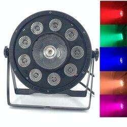 Płaskie LED 9x10W + 30W cyfrowy PAR oświetlenie dyskotekowe Led RGB 3IN1 LED światła etapie oświetlenie DJ DMX Led Par par 54 oświetlenie imprezowe w bar|Oświetlenie sceniczne|Lampy i oświetlenie -