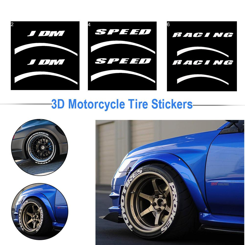 Car Tire Wheel Sticker Tuning Universal 3D Logo Stickers Personalized Styling Label