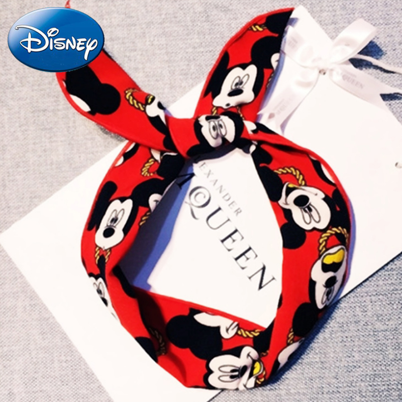 Disney Mom Baby Mickey Ears Baby-Headbands-Hair Hoop Stretch Knot Hair Bows Cotton Children Hair-Bands Baby Hairs-Accessories