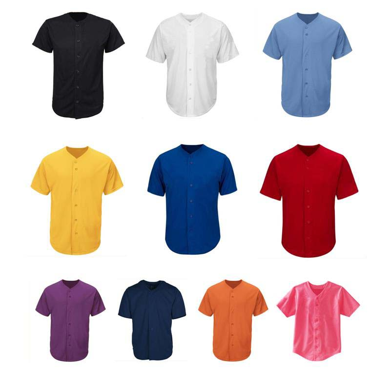 Us 12 99 Solid Color Baseball Jersey Short Sleeve T Shirt Can Custom Logo In Jerseys From Sports Entertainment On Aliexpress
