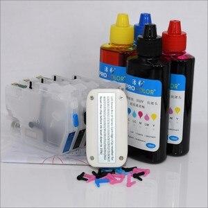 Image 4 - Completo lc3619 xl lc3617 recarga cartucho de tinta para o irmão mfc j3930dw j3530dw j2330dw j2730dw MFC J2330DW impressora a jato de tinta com chips