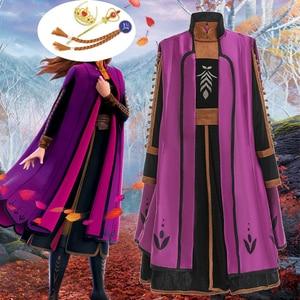 2019 для девочек 2 Анна платье Эльзы 6 шт. Детские платья для девочек; костюм для девочек элегантное платье принцессы карнавальный костюм Коспл...