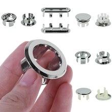 1 шт. ванная раковина кольцо для защиты от переполнения шестифутовая круглая вставка хромированное отверстие крышка