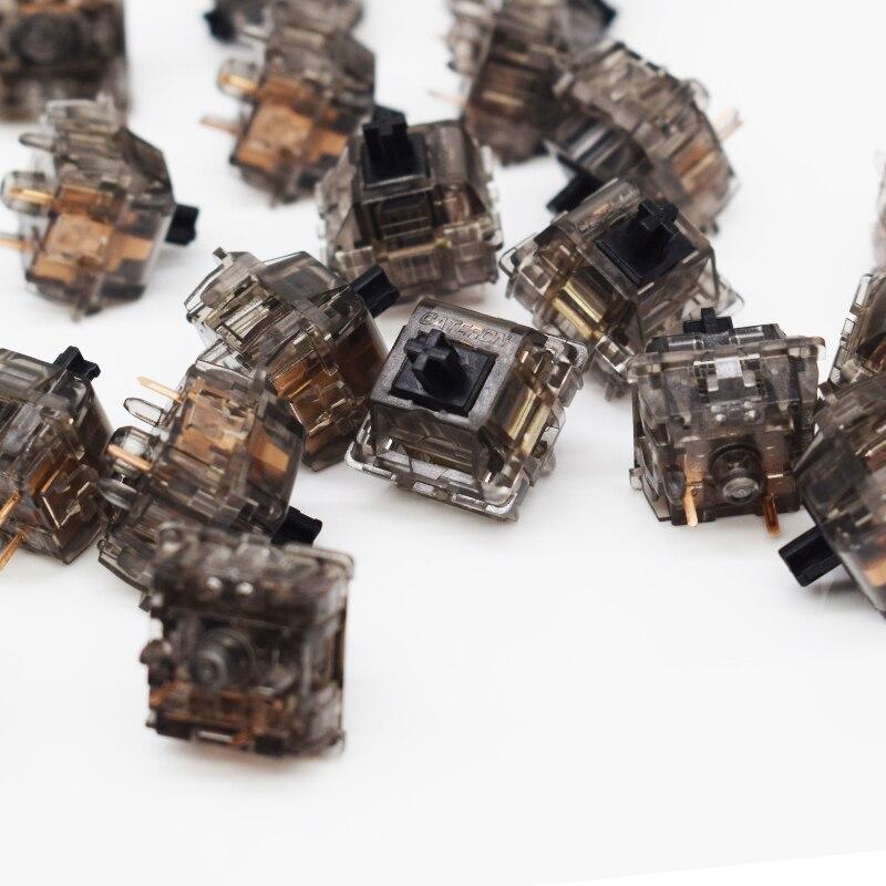 4pcs Original Gateron Ink Customized Switch Semi-permeable Shaft Plating Black Spring Linear 60g Mechanical Keyboard Switch