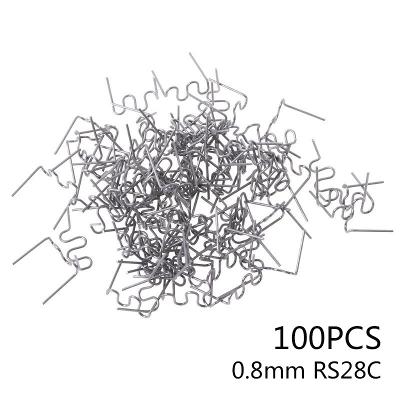 100PCS V Pre Cut 0.8mm Flat Hot Staples for Plastic Stapler Repair Welder