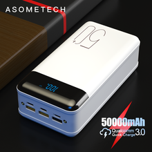 18W QC 3,0 Quick Charge 50000mAh Power Bank LED Digital Display Externe Batterie Poverbank Schnelle Ladung für Xiaomi iPhone 12 Mini