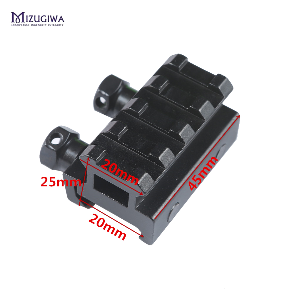 Mizugiwa Hunting Rifle Mount 20mm Weave Picatinny Rail Riser Quick Release Block Mount Adapter Hunting Arisoft Caza Bipod Chasse