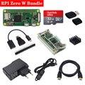 Original Raspberry Pi Zero W Wireless Kit 512Mb RAM on-board WiFi Bluetooth with Acrylic Case Aluminum Heat Sink for RPI 0 W