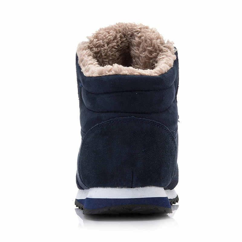 Erkek botları 2019 erkek kış ayakkabı moda Lace Up yuvarlak ayak kar botları ayak bileği erkek ayakkabıları kışlık botlar erkekler Sneakers