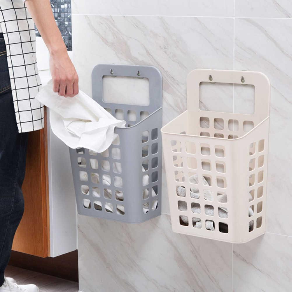Hohl Kunststoff Wäsche Korb Organizer mit suckers Schmutzige Kleidung Lagerung Korb Kinder Spielzeug Lagerung Container Startseite Organizer