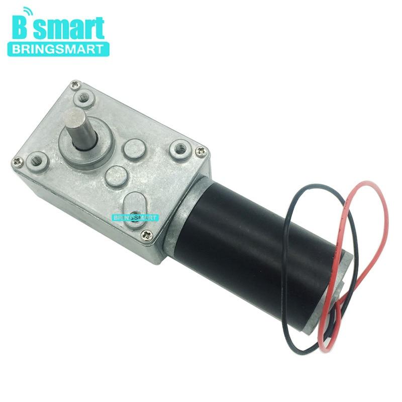 Bringsmart Kleine Wurm Getriebe Motor 12V 24V 12-470/min DC Micro Motor 12v Hohe Drehmoment umgekehrt Selbst-Lock Für Hause Ausrüstung