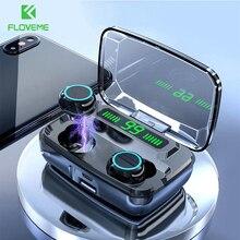 FLOVEME 3300mAh TWS M11 słuchawki LED bezprzewodowy Bluetooth V5.0 słuchawki IPX7 słuchawki hi fi słuchawki Stereo dotykowy zestaw słuchawkowy