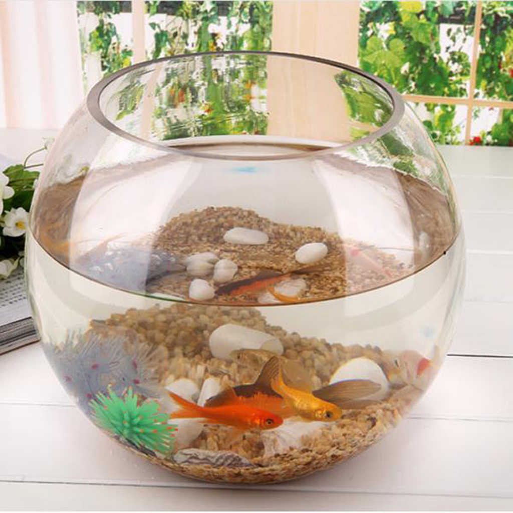 Round Transparent Crystal Glass Bowl Clear Sphere Vase Fish Tank Water Jar Aquariums Tanks Aliexpress