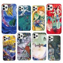 цены Marc Chagall Case for Apple iPhone 11 Pro X XR XS Max 7 8 6 6S Plus 5 5S SE Cases Silicone Cover Phone Coque