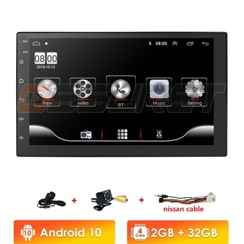 72 Din Android 10 Universal Car Radio Stereo Bluetooth Wifi FM USB Multimedia MP5 MIC DAB+ DVR for without canbus image