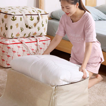 JOYBOS Oxford Storage Bag Thickening Luggage Cotton Linen Travel Packing Quilt Clothes Sorting bag JBS29