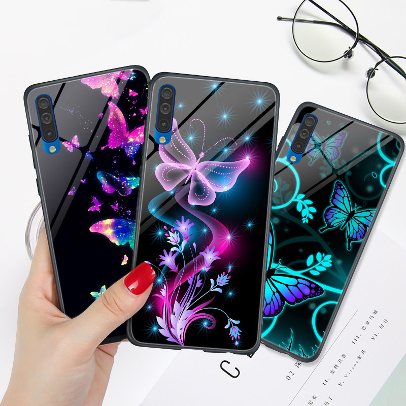 Case FOR Samsung A8 Plus 2018 A6 A7 A3 A5 Butterfly Cover FOR Galaxy A70 A50 A40 A30 A20 A10 A51 A71 A30S A21S A10S A20E A50S