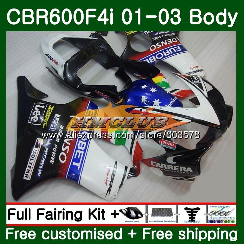 Средства ухода за кожей для HONDA CBR 600 F4i CBR 600F4i 600 FS 2001 2002 2003 70CL. 106 Горячая EUROBET CBR600F4i CBR600FS CBR600 F4i 01 02 03 обтекатели