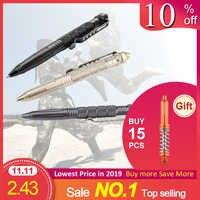 Verteidigung Tactical Pen Tasche Luftfahrt Aluminium Anti-skid Military Selbst Verteidigung Militär Stift Glas Breaker Anti-skid Überleben kit