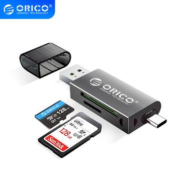 ORICO USB 3.0 SD TF Card Reader 5Gbps SuperSpeed Transmission Adapter Type C CardReader Portable Multifunction Match with OTG