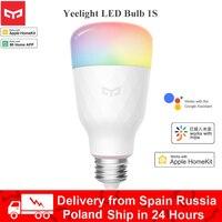 Xiaomi-bombilla LED inteligente Yeelight 1SE, RGB, colorida, E27, 1S, 800 lúmenes, lámpara inteligente, Mijia, teléfono inteligente, WiFi, Control remoto