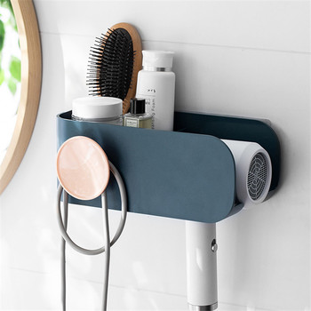 Wall Mounted Hair Dryer Holder Rack Plastic Storage Shelf Kitchen Bathroom Organizer Hair Dryer Rack Home Organizer ledfre wall hair dryer rack bathroom hair dryer storage rack free of punch wall mounted hair dryer rack for bathroom