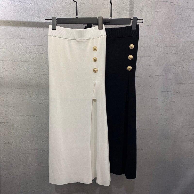 Летняя Однотонная юбка, Женская винтажная юбка с высокой талией, однотонная длинная юбка, новая модная повседневная женская юбка цвета мета