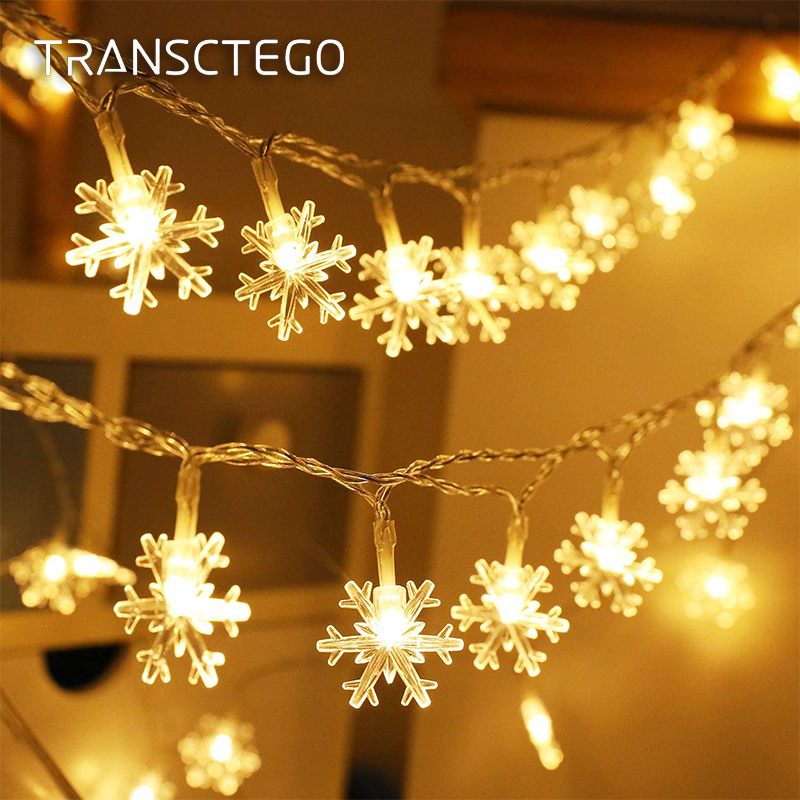 Fadas luzes de natal festão led guirlanda cortina luzes da corda árvore decoração interior ao ar livre a pilhas rua decoração