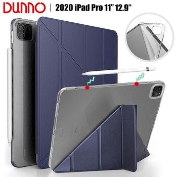 цена на New iPad Pro 2020 12.9 Case For 2018 iPad Pro 11 Case Soft silicone Cover 2020 iPad Pro 11 2nd Gen Auto Sleep/Wake Smart Case