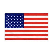 Wn 60x90 90x150cm eua bandeira de alta qualidade dupla face impresso poliéster americano grommets eua bandeira