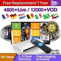 Leadcool Android IPTV France Box SUBTV IPTV Subscription 1 Year code RK3329 4K Dutch Italia Portugal Spain IPTV Box France IP TV