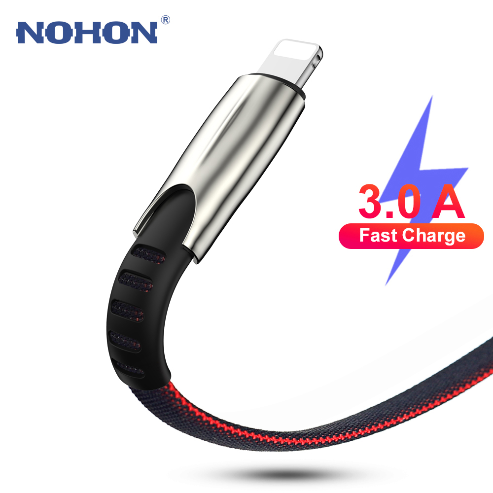 1m 2m 3m 3A Fast Charger USB Cable For iPhone 11 Pro Xs Max XR X 8 7 6 s 6s Plus 5s iPad Origin Mobile Phone Accessory Long Wire|Mobile Phone Cables|   - AliExpress