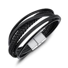 Hot Sales Bracelet Wristband Hand-woven Multi-Layer Mens Leather Creative Ethnic