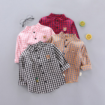 цена на Children's Long Sleeve Shirt Boys Shirts for Girls Long Sleeve Plaid Shirts Kids Plaid Shirt Girls Red Shirt Long Sleeve Shirt
