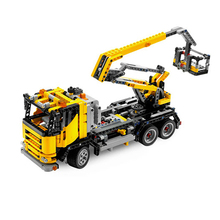 Building Blocks Compatible 8292-1 Cherry Picker  Truck-Mounted Crane Technic Bricks Gifts Fit lepining Diy Toy Christmas Gift lepin 1877pcs 20013 technic series electric crane truck model building blocks educational bricks compatible toys christmas gift