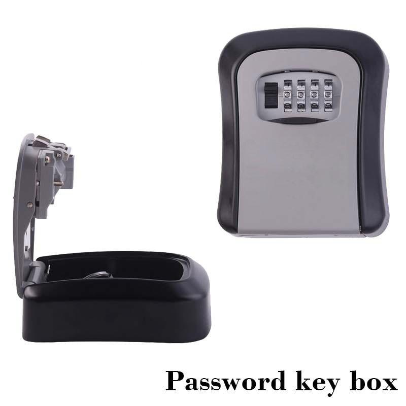 Wall Mount Key Storage Secret Box Organizer Safe Security Door Lock with 4 Digit Combination Password Zinc Alloy caja fuerte