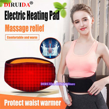 Far infrared Heat Therapy Waist Massage Back Belt Herniated Disc Scoliosis Back Pain Lower Support Brace Spine Lumbar Support(China)