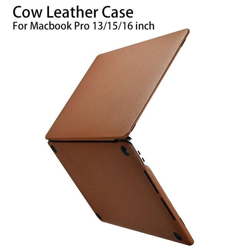 Чехол для Macbook Pro 13 2020 A2289 A1989 A1708 A1706 кожаный чехол для Apple Macbook Pro 15 16 A1990 A1707 A2141 деловой чехол для ноутбука