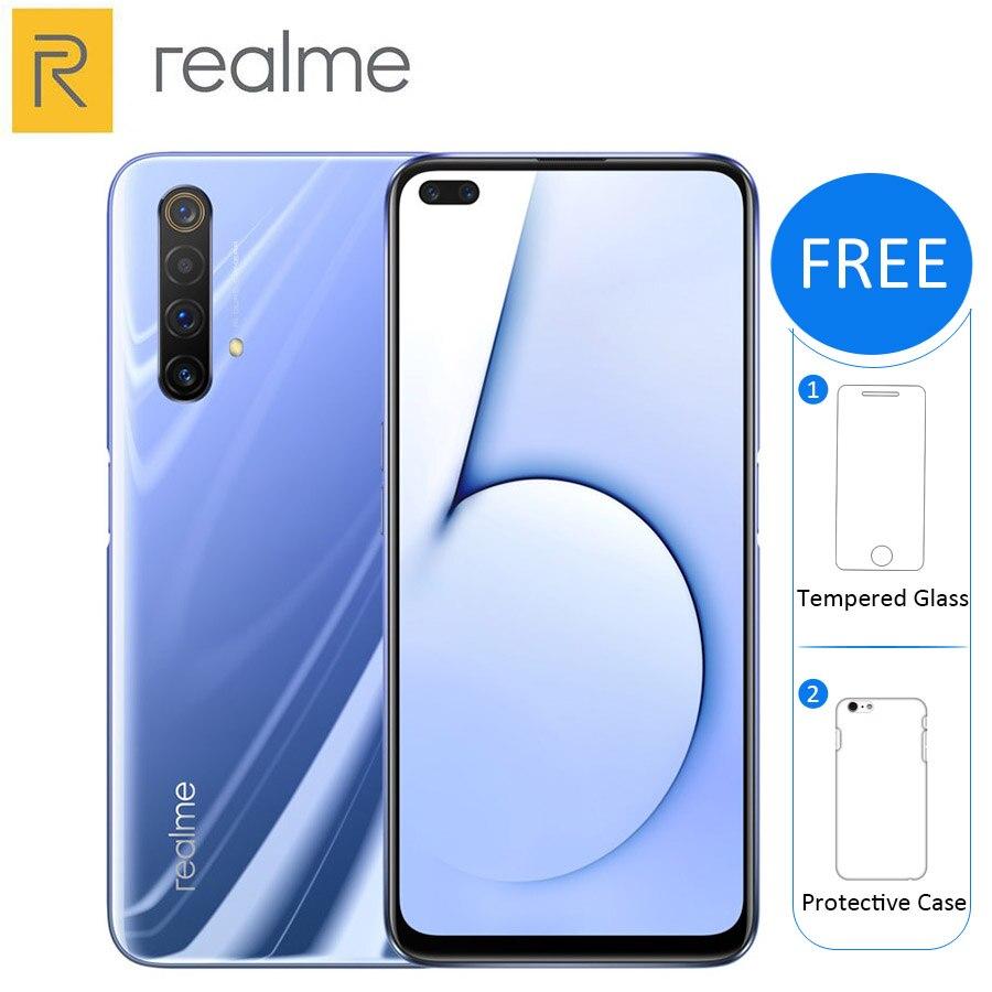 Realme-teléfono inteligente X50 5G, teléfono móvil con 256GB /128GB ROM, 12GB /8GB RAM, pantalla de 6,57 pulgadas, procesador Snapdragon 765G, cámara Quad principal de 64MP, batería de 4200mAh, soporta NFC