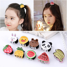 1PC Girls Fashion Hair Clip Pins With Cute Mini Fruit Shape Accessories For Girl Claw Styling Tools