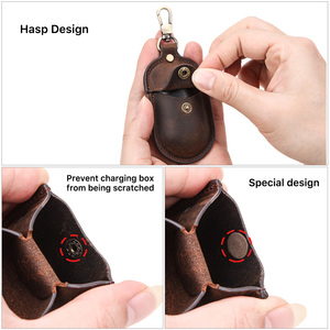 Image 3 - For Galaxy Earbuds+ 2020 Genuine Leather Case for Samsung Galaxy Buds Case Keychain Protecive Cover Charging Soft Ecouteur Coque