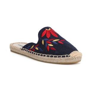Image 5 - Mules dété en chanvre imprimé, pantoufles en caoutchouc, pour chaussures plates, Tienda Soludos, meilleure vente 2019
