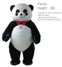 2020 г 3 м надувной костюм панды медведя талисман рекламное