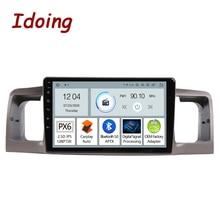 """Idoing 9 """"Radio samochodowe z androidem PX6 dla Toyota Corolla E130 E120 2000 2006 nawigacja GPS Carplay Auto Bluetooth5.0 jednostka główna"""