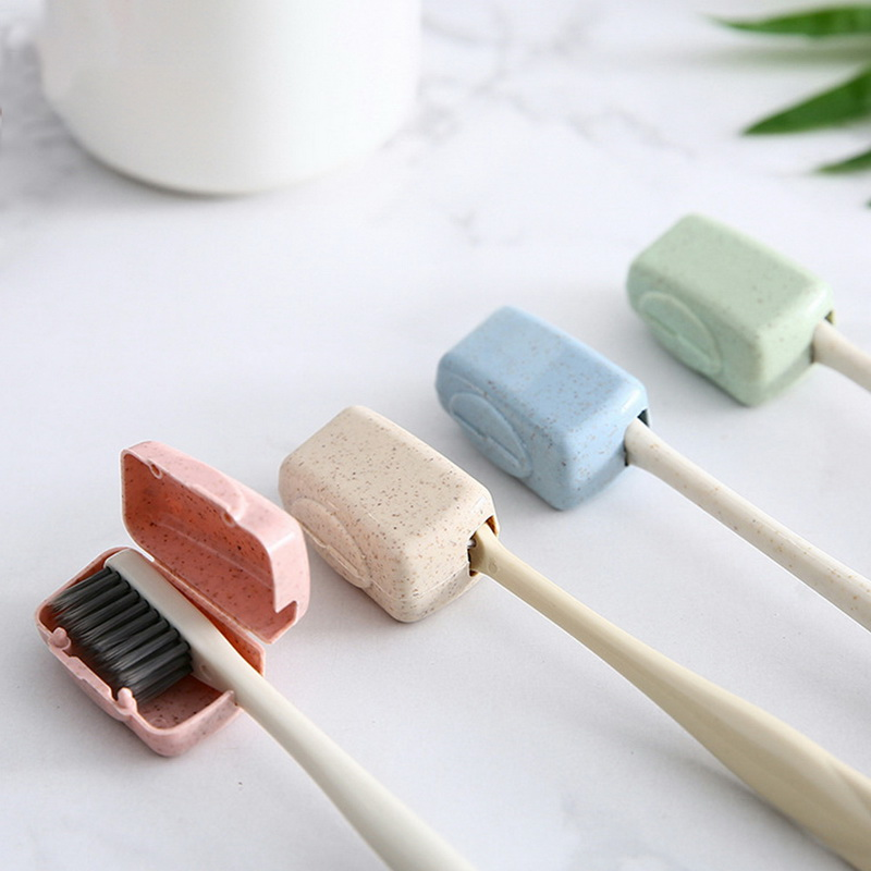 Hot 4Pcs Portable Tooth Brush Cover Holder Toothbrush Headgear Travel Hiking Camping Brush Cap Case Hygiene Care Outdoor