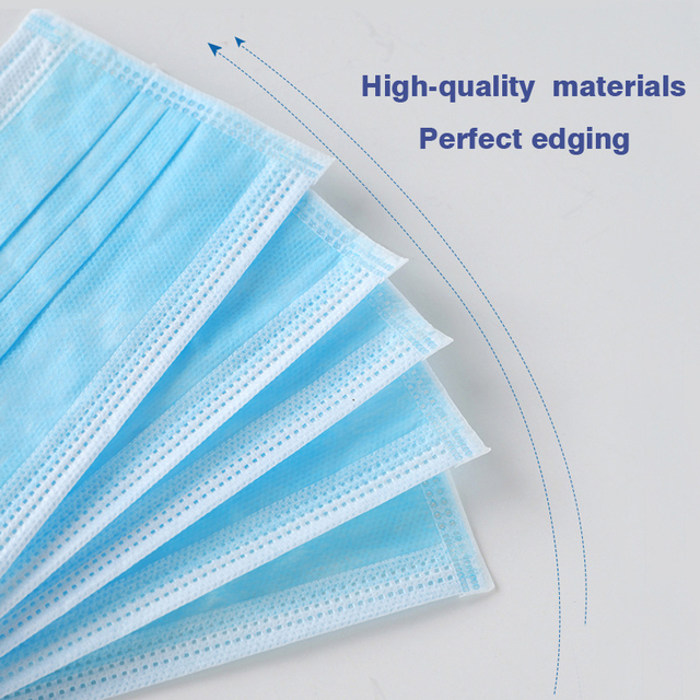 In stock,50/100pcs Disposable masks 3 Layer Filter Mouth Mask High quality Protection anti-dust Non-woven face mask balaclava 3
