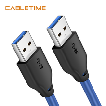 Câble dextension USB CABLETIME USB 3.0 à USB 3.0 connecteur mâle à mâle transmission de données pour ordinateur portable Huawei Macbook C271
