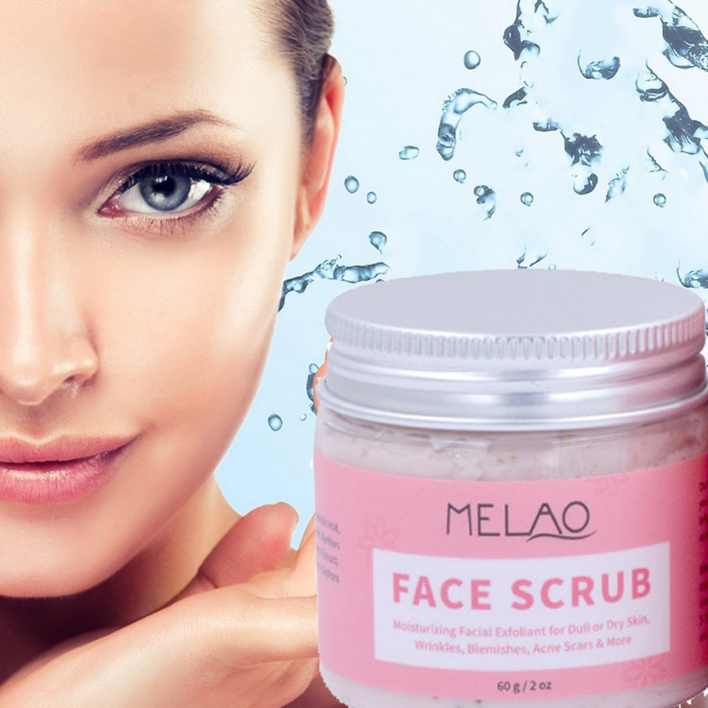 60g Facial Scrub Cream Moisture Exfoliate Wrinkle Blemishes Acne Scars Removing Control Oil Shrinking Pores For Dull, Dry Skin To Prevent And Cure Diseases