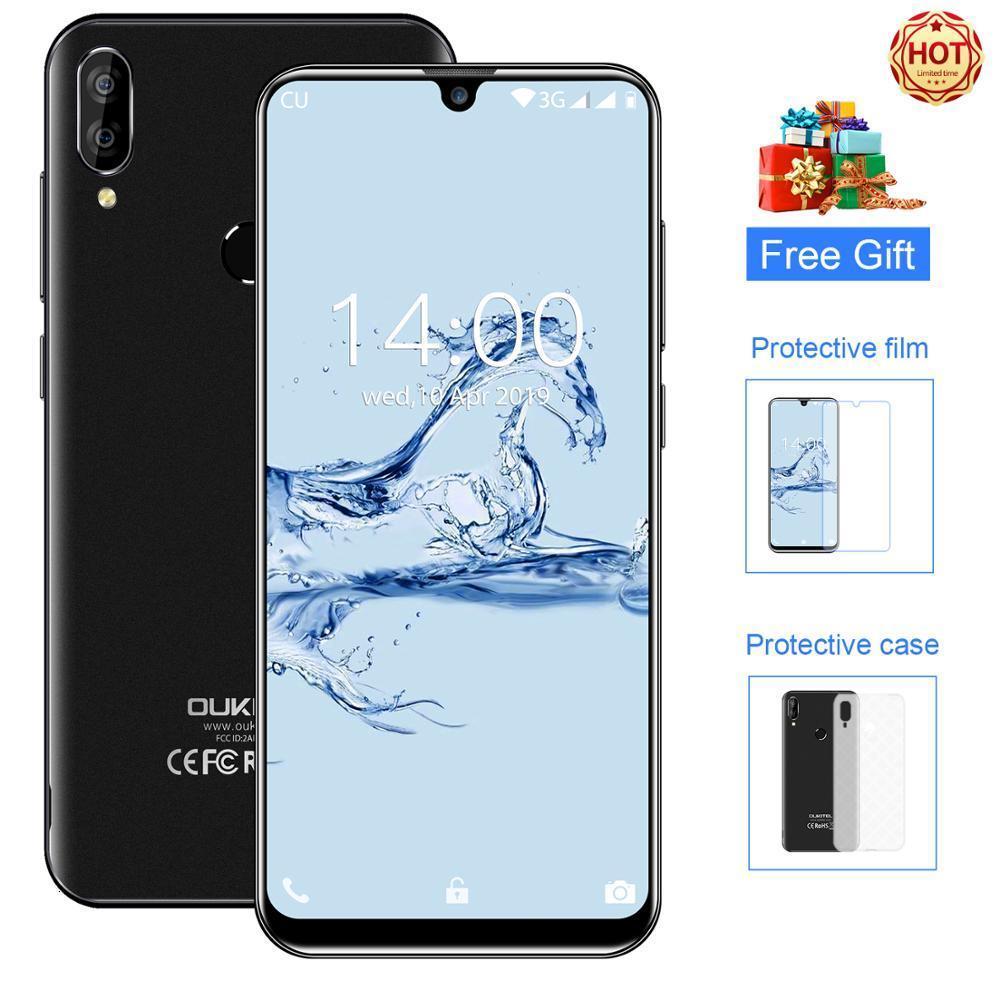 "OUKITEL C16 5.71"" HD+ 19:9 WaterDrop Android 9.0 Smartphone Fingerprint MT6580P 2G RAM 16G ROM 2600mAh Unlock Mobile Phone"