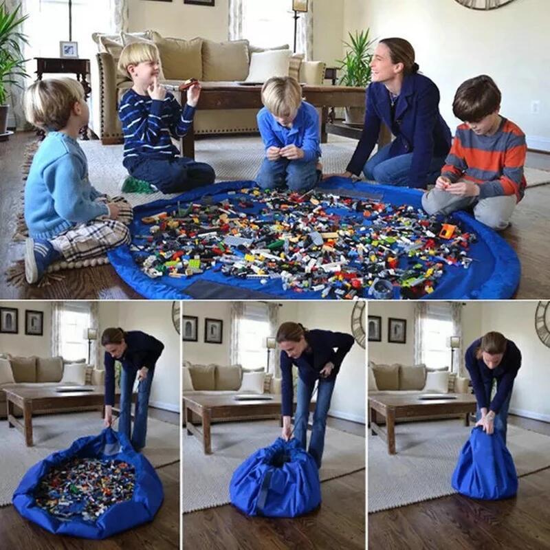 1,5 м, детский игровой коврик, сумки для хранения игрушек, большой органайзер для чистки, игровой коврик, прочная сумка для хранения игрушек, у...